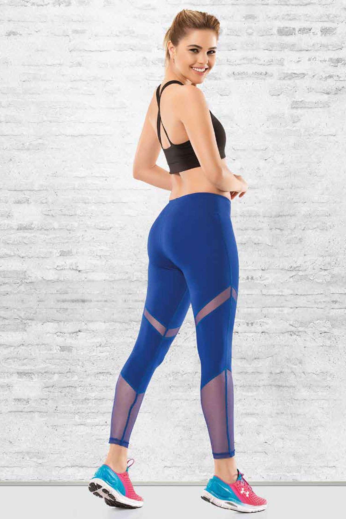 Aktif Uzun Spor Tayt Mavi