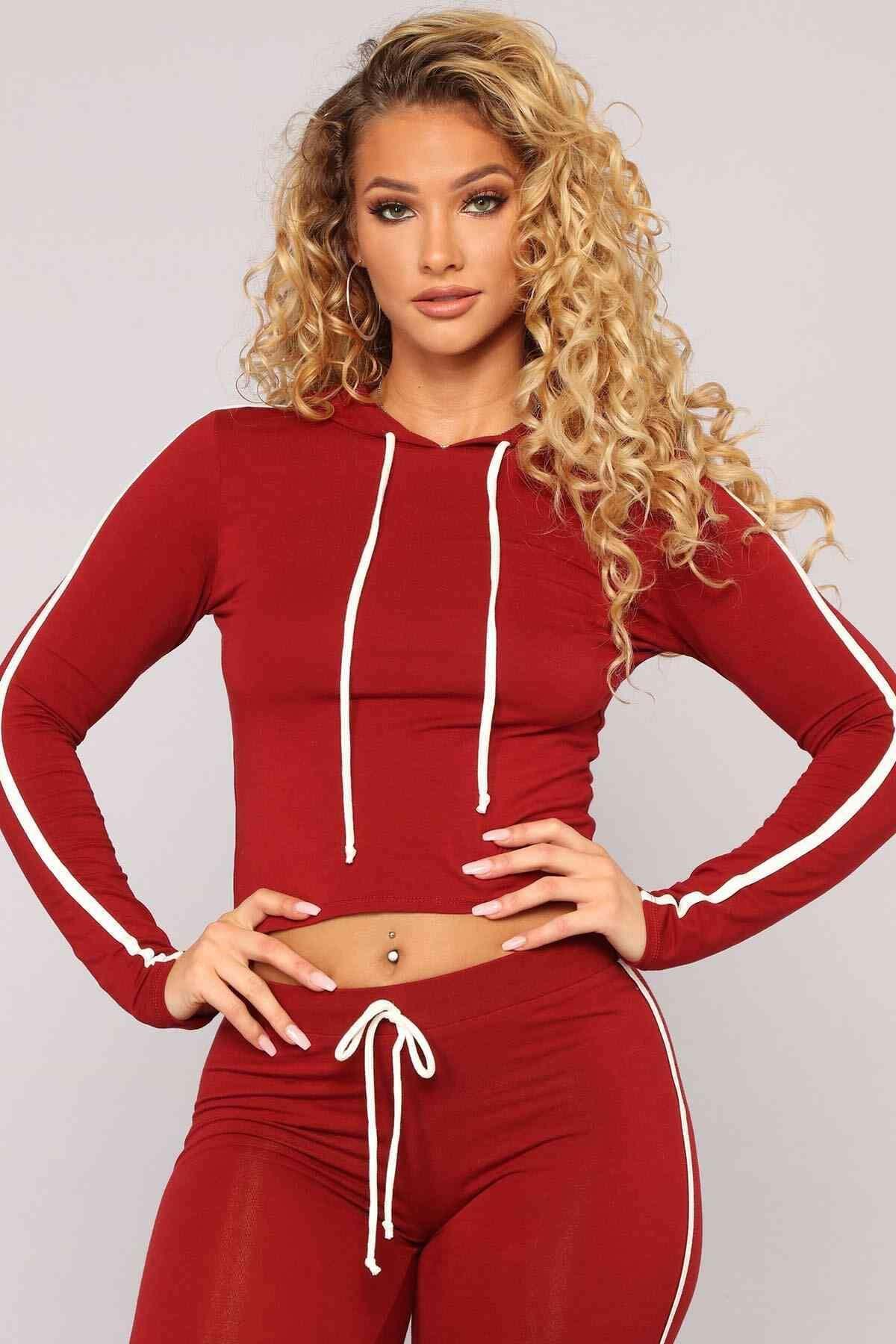 Penye Eşofman Pijama Takım Kırmızı